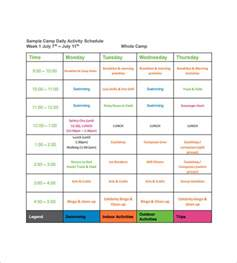 daily activity schedule template c schedule templates 9 free word excel pdf formt