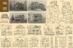 Victorian Blueprints 1889 antique victorian houses architect house floor plans cd diy home