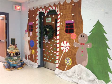 gingerbread home decor door decorating ideas gingerbread house