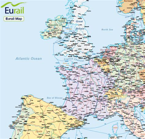 eurail map eurorail map images search