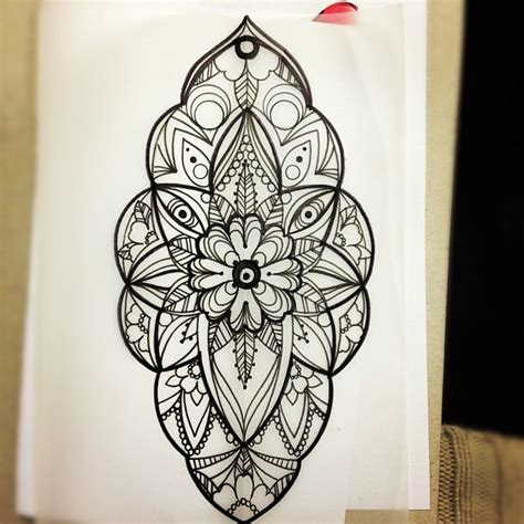 wonderful mandala flower dotwork tattoo design tattoo