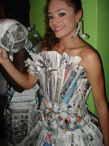 traje de fantasia con material reciclado mejores disfraces con material reciclado bordados