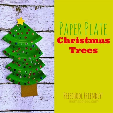 kid friendly christmas crafts paper plate trees kid friendly craft