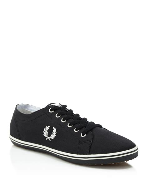 fred perry sneakers fred perry kingston twill sneakers in black for lyst