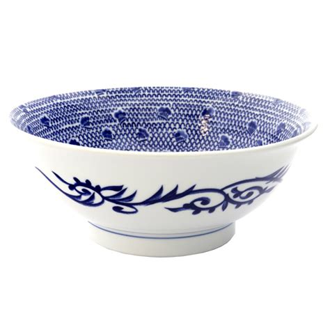 japanese pattern bowl japan centre ceramic noodle bowl white blue