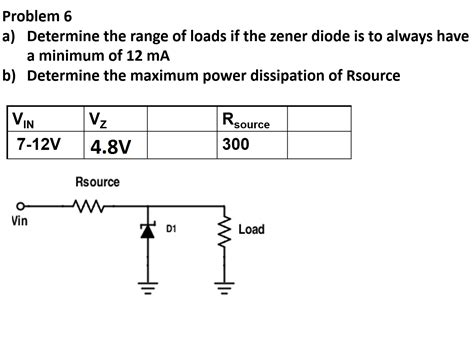problems on zener diode zener diode problems with solutions 28 images chapter 3 solid state diodes and diode