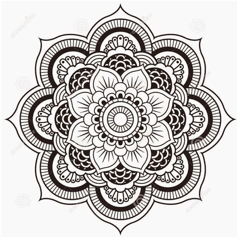 svart mandala design tattoo sjablong tattoo pinterest