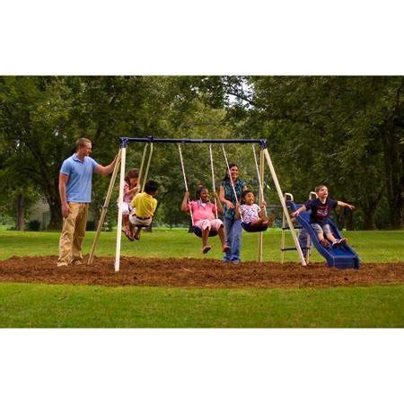 flexible flyer swing n glide iii swing set with plays flexible flyer swing n glide metal swing set endurro