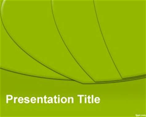 template for powerpoint slice green shapes ppt