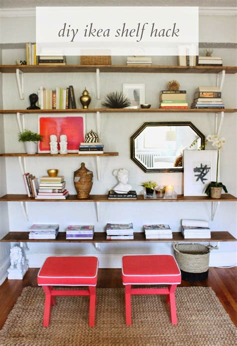 ikea wall shelves hack how to diy ikea hacked shelving unit shannon claire