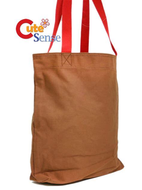 Tote Bag Domo domo kun tote bag big canvas brown shoulder bag