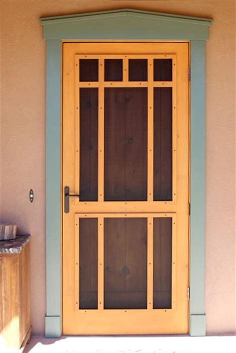 photo gallery custom hand built wooden screen doors