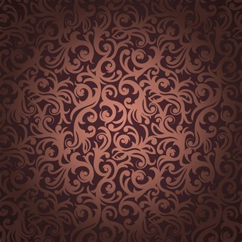 brown pattern vector brown floral seamless pattern vector free vector in adobe