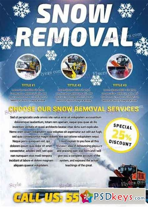 Snow Removal Psd V8 Flyer Template 187 Free Download Photoshop Vector Stock Image Via Torrent Snowy Flyer Template