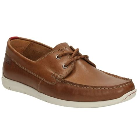 mens tan boat shoes clarks mens karlock step tan leather boat shoes
