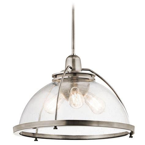 Pewter Pendant Light Seeded Glass Pendant Light Pewter Kichler Lighting