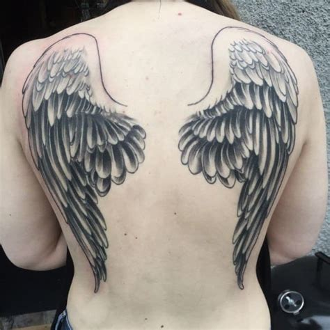 angel wing back tattoo wing tattoos for ideas and inspiration for guys
