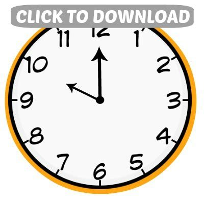 printable new years eve clock countdown bags clock printables hoosier homemade