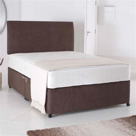 2ft 6 headboards 2ft 6in small single divan bed base in chocolate brown suede