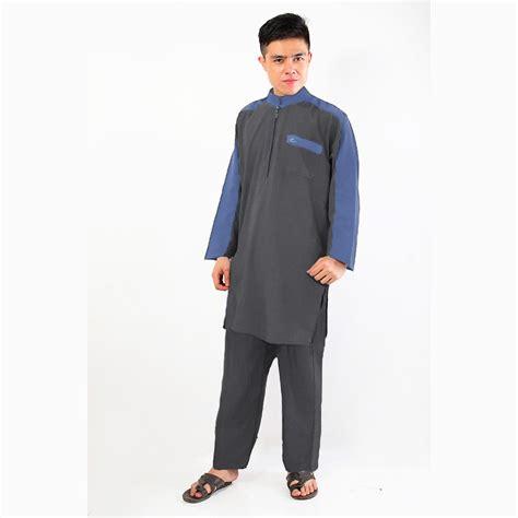 Baju Koko Kurta Gamis 3/4 Black   Baju Muslim Pakistan