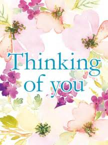 flowery thinking of you card birthday greeting cards by davia
