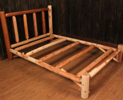 kentucky log bed with open end footboard tucker s room