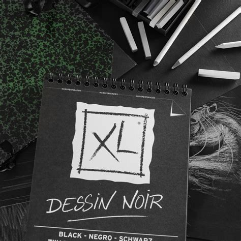 Canson Xl Dessin Noir A4 Black Pad spenic graphics arts crafts supplies label