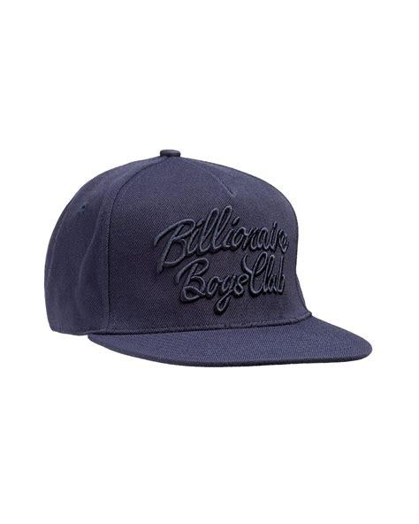 fashion snapback hats c 9 billionaire boys club mens script logo navy blue snapback cap