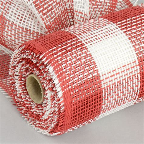 How To Make Paper Mesh - 10 quot paper mesh roll white plaid rr800234
