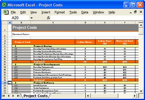 product design requirements template test plan template project costs excel spreadsheet