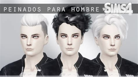sims 4 cc guys hair pack peinados para hombre male hair sims 4 youtube
