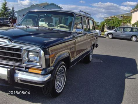 lowered jeep wagoneer 1989 jeep grand wagoneer low miles no reserve baltic blue