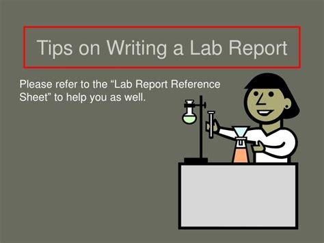 Writing A News Report Ppt by Ppt Tips On Writing A Lab Report Powerpoint Presentation Id 3936011