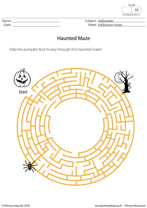 halloween maze printable festival collections middle school halloween activity sheets festival collections