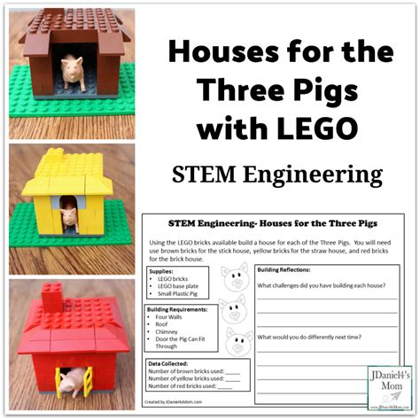 Stem Engineering Houses For The Three Pigs With Lego | stem engineering houses for the three pigs with lego
