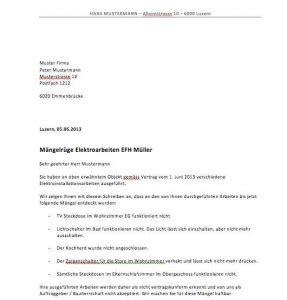 Reklamation Briefvorlage Vorlage M 228 Ngelr 252 Ge Muster Und Vorlagen Kostenlos