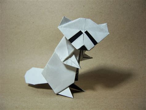 Origami Raccoon - origami baby raccoon by arturoeduardo on deviantart