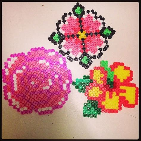 perler bead flower flowers hama perler by pagey163 perler