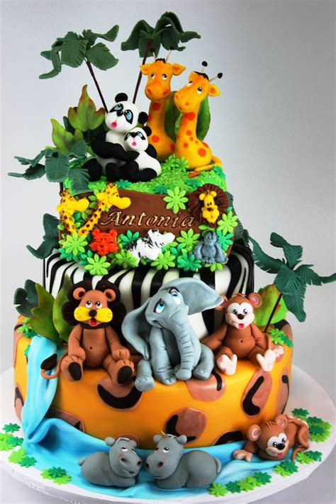 zoo themed birthday cake ideas southern blue celebrations jungle safari and zoo cake