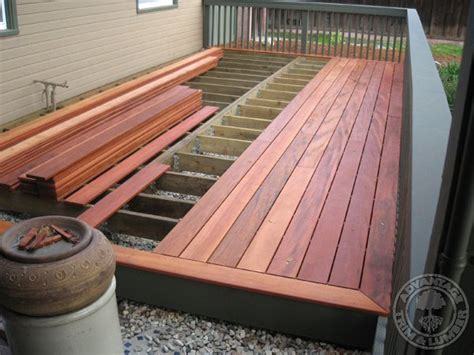 wood deck installation tigerwood decking gallery