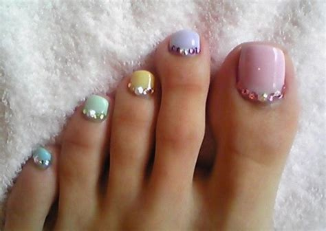 outstanding cute toe nail art elaboration nail paint design ideas