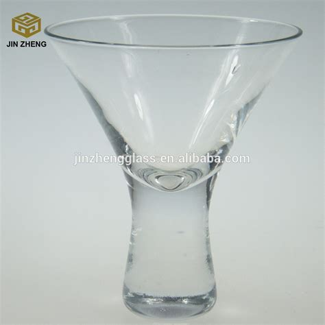 Handmade Martini Glasses - wholesale handmade heavy stem martini glasses 180ml 6oz