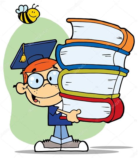 inicio libros de dibujos animados vector de stock ni 241 o de dibujos animados con los libros vector de stock