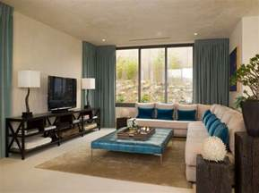Living Room Window Ideas Magnificent Teal Window Treatments Decorating Ideas Images In Living Room Contemporary Design Ideas