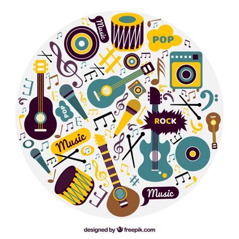 imagenes vectoriales musicales fondo de instrumentos musicales en dise 241 o vintage