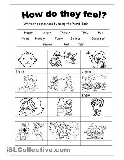 preschool printable worksheets emotions 9 best images of feelings worksheets for kindergarten