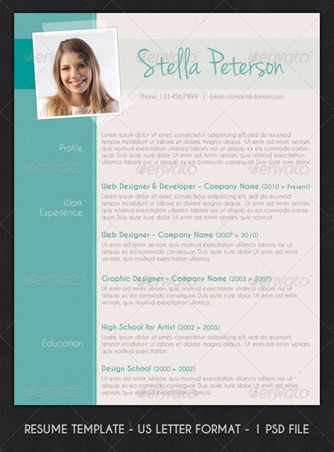 how to lay out qualifications on a cv modern cv layout by resumepro graphicriver