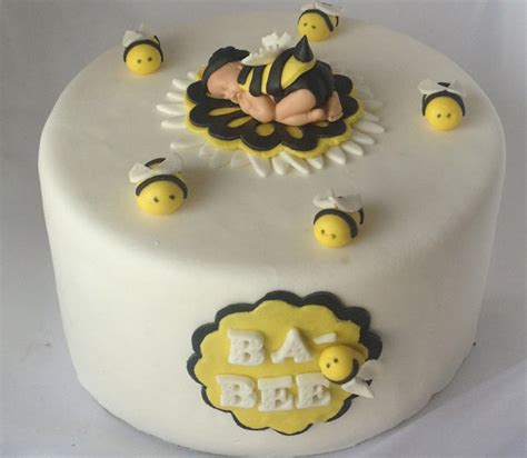 bumble bee cakes for baby shower items similar to fondant baby bee cake topper baby shower