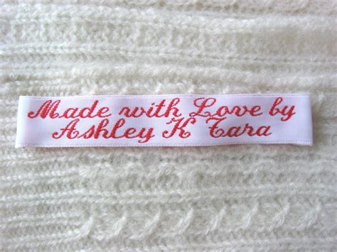 Woven Labels For Handmade Items - woven clothing labels sew in labels for handmade items