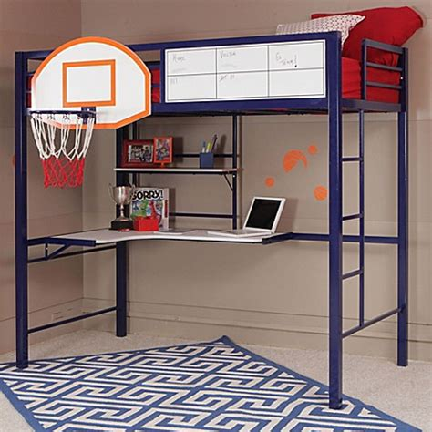 powell bunk beds with desk buy powell hoops basketball bunk bed from bed bath beyond
